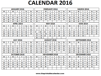 i agree to the terms of use for using 2016 calendar to download free printable calendars you should hit the download button below