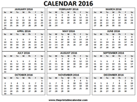 2016 calendar one page 1 page calendar 2016
