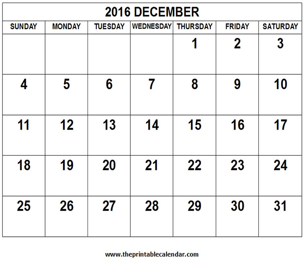 2016 Calendar – Monthly calendar AND Yearly calendar.