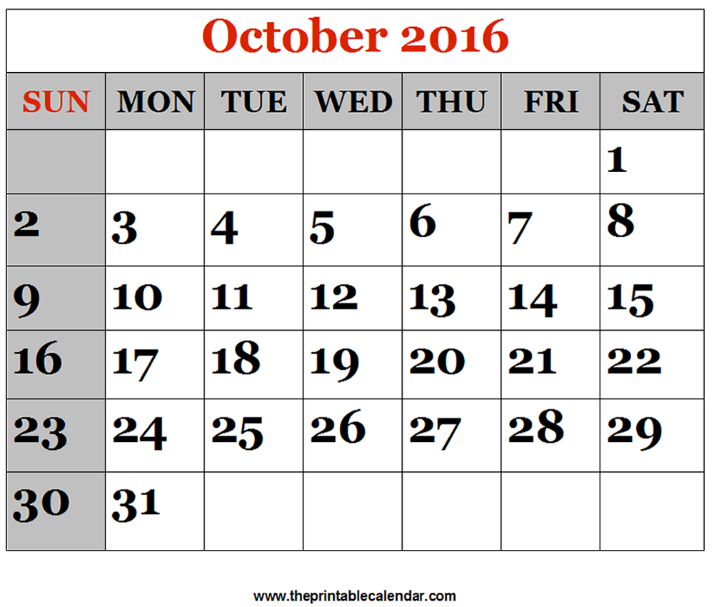 October 2017 Calendar Canada | monthly calendar …